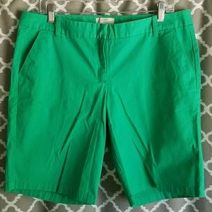 J Crew Factory Sz 12 Kelly Green Bermuda Shorts
